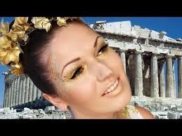 greek dess halloween look makeup