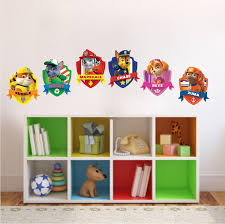 Paw Patrol Kids Wall Decal Decor Paw Dog Birthday Party Theme Decoration Kids Wall Murals Kids Room Wall Murals Primedecals