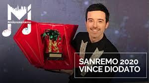 Sanremo 2020, vince Diodato: la conferenza - YouTube