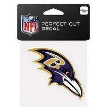 Wincraft 4 X 4 Perfect Cut Full Color Decal Baltimore Ravens Car Window New Ebay