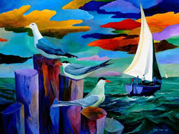 Gulls and Terns by Ivey Hayes (1122) - Islands Art & Bookstore