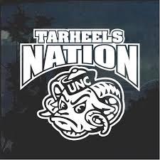 Unc Tarheels Nation Window Decal Sticker Custom Sticker Shop