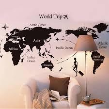 New World Trip Travel Map Wall Stickers Art Vinyl Decal Home Decor Wallpaper Mural Creative Living Room Wall Decoration Wall Decor Decor Wallpaperhome Decor Aliexpress