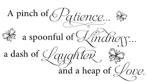 A Pinch Of Patience Wall Art Decal Quotes Wall Decals Kitchen Decor