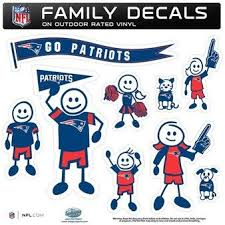 Patriots Large Family Car Decal Set Family Decals Family Car Decals Patriots
