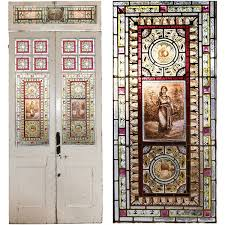 victorian stained glass double doors