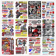 Fox Racing Motocross Window Sticker Vinyl Decal Suzuki Dirt Bike Ktm Honda