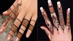 mehndi design 2019 fingers only