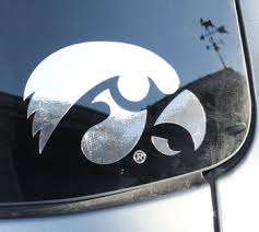 Iowa Decals Chrome Tigerhawk Vinyl Car Decal