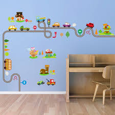 Ship Train Car Transport Cartoon Wall Stickers For Kids Room Decorative Children Nursery Room Art Decals Wall Sticker Wallcorners Art Canvas
