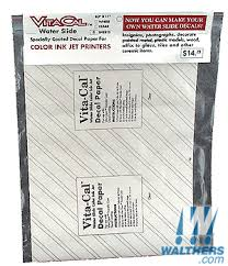 Vitachrome Graphics Inkjet Decal Paper Standard 5 Pack Solid White Background Each 8 1 2 X 11 20 X 27 5cm 768 5000
