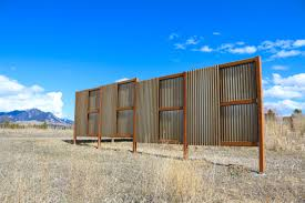 Corrugated Metal Is A Great Choice For Windbreak Or Privacy Fencing Corrugated Metal Fence Metal Fence Panels Metal Fence