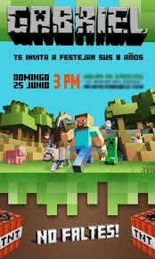 Minecraft Invitaciones Invitaciones De Minecraft Fiesta De