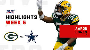 It's The Aaron Jones Show w/ 4 TDs & 182 Total Yds!! | 2019 NFL Highlights  - YouTube