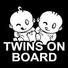 Twins Baby On Board Car Decal Sticker Twins On Board Tailoredride Com