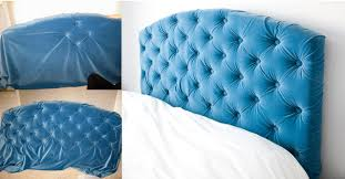 tufted headboard tutorial schue love