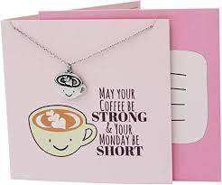 com quan jewelry handmade caffeine pendant necklace