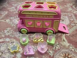 elc bus shape sorter pink in shaw