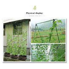 Garden Green Nylon Trellis Netting Support Climbing Bean Plant Nets Grow Fence For Cucumber Towel Gourd Plant Cages Supports Aliexpress