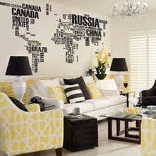 World Map Mural Oversized Vinyl Wall Decal Stickers Living Room Art Deco Ebay