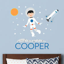 Spaceboy Wall Decal Personalized With Space Shuttle Maxwill Studio