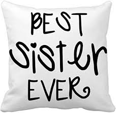 family love bless best sister quotes throw pillow square cover