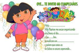 Invitaciones De Cumpleanos De Dora La Exploradora Para Fondo De