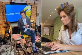 How TV news anchor couple Tony Dokoupil and Katy Tur broadcast from home