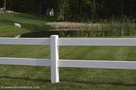 Post Rail 2 Rail Small Certagrain Style Of Vinyl Fence Hoover Fence
