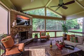 screen porch with fireplace kennesaw