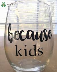Design Small Cup Sticker Diy Because Kids Funny Wine Drinking Glass Cup Decoration Beauty Fashion Ornament Decals Lx62 Wall Stickers Aliexpress