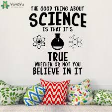 Yoyoyu Wall Decal The Good Thing About Science Vinyl Wall Decals Mural For Living Room Science Poster Sticker Decoration Qq45 Wall Stickers Aliexpress