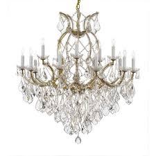 crystal chandelier gold t40 623