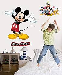 Amazon Com Disney Mickey Friends Mickey Mouse Wall Decal Cutout 36 X36 Automotive