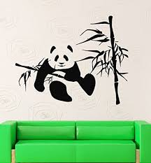 Wall Stickers Vinyl Decal Bamboo Panda Funny Animal Lazy For Kids Nursery Ig229 Panda Things