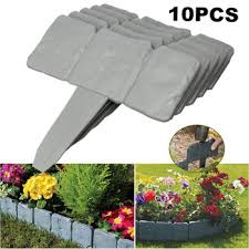 Best Sale 12bf4 10 Pcs Imitation Stone Fence Gardening Fence Folding Garden Fence Border Edging Diy Decorative Garden Landscape Decor 25x23cm Cicig Co
