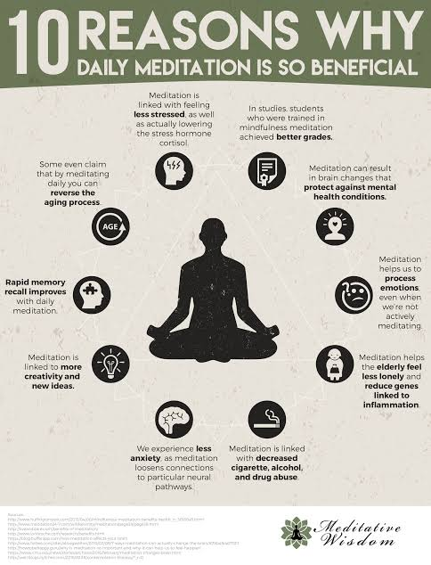 Image result for 10 reasons you should meditate""