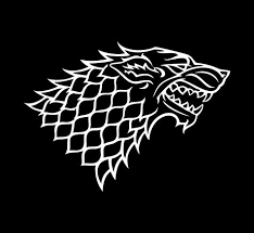 Stark Game Of Thrones Grey Direwolf Emblem Vinyl Die Cut Decal Sticker Texas Die Cuts