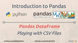 pandas dataframe playing with csv