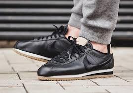 nike cortez leather premium black gum