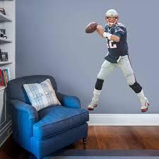 New England Patriots Tom Brady Fathead Life Size Removable Wall Decal