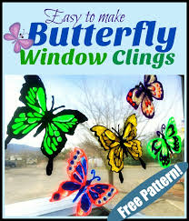 Easy To Make Butterfly Window Clings