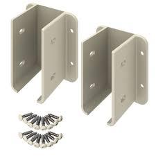 Veranda Tan Vinyl Fence Bracket Kit 116102 The Home Depot Modern Design I 2020