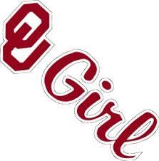 Oklahoma Sooners Die Cut Crimson Ou Girl Logo Sooner Vinyl Decal