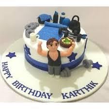 boyfriend gym birthday cake 2 kg gym