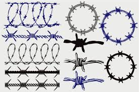 Barbed Wire Svg In 2020 Barbed Wire Wire Drawing Svg