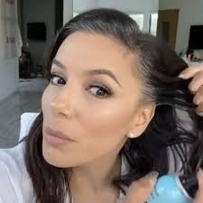 Eva Longoria using touch-up spray to hide grey roots | People Magazine