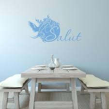 Shop Style Apply Salut Blue Vinyl Wall Decal Overstock 12361699