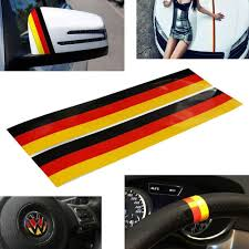 Euro Audi Bmw Mercedes Germany Flag Color Stripe Decal Sticker Ijdmtoy Com
