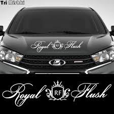 Tri Mishki Hzx950 60 14 3cm Cute Crown Royal Flush Car Sticker Auto Windscreen Vinyl Decals Accessories Sticker Car Stickers Aliexpress